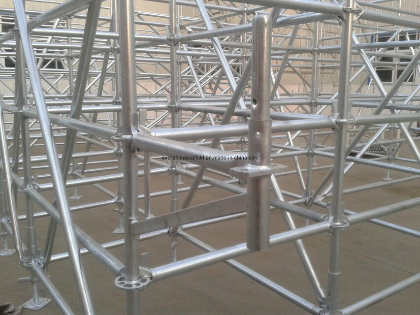 Ringlock Scaffolding Standard Red Powder Coated for Sale