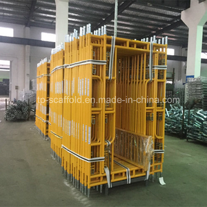 Steel Yellow Painted Frame Scaffolding Walk Through Frame